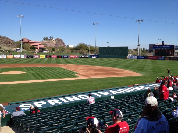 Angels Spring Training Dugout