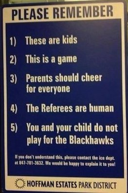 Youth Hockey Sign