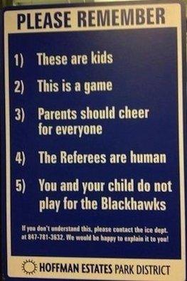 Youth Hockey Sign