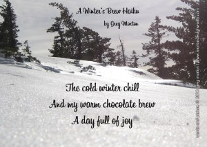 Winters-Brew-Haiku Greeting Card