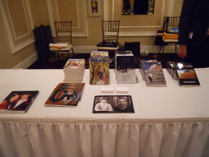 Morton Swag.  This table was nearly empty by the end of the day.  The fans were AWESOME in supporting my work!